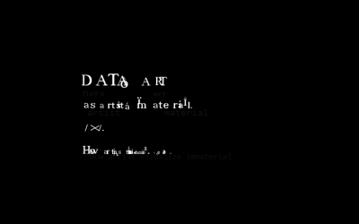 Data as artist material // Sunčica P.K.