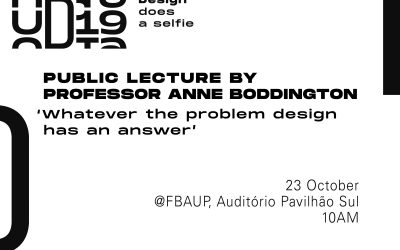 'Whatever the problem design has an answer' – UD19 // Anne Boddington